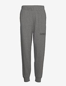 KNIT PANTS - pants - med grey heather
