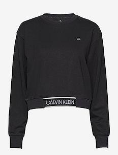 PW - CROPPED PULLOVER - sweatshirts - ck black