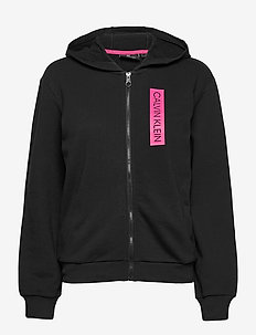 FULL ZIP HOODY - hoodies - ck black