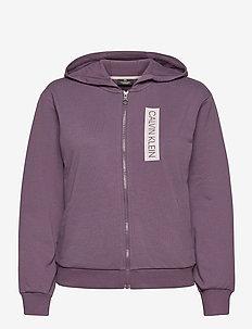 FULL ZIP HOODY - hoodies - vintage violet