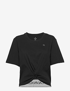 SHORT SLEEVE T-SHIRT - crop tops - ck black