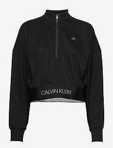1/4 ZIP PULLOVER - bluzy i swetry - ck black
