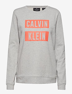 LOGO PULLOVER - light grey heather/hot coral