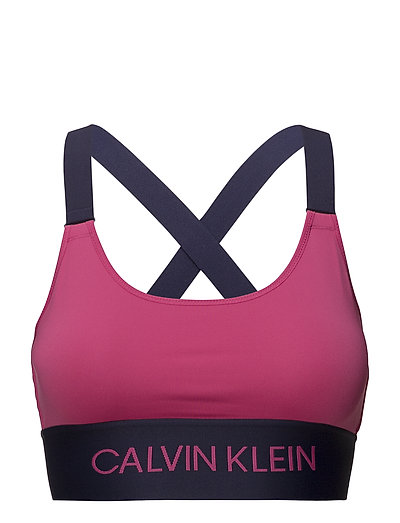 CROSS BACK SPORTS BRA - PINK YARROW