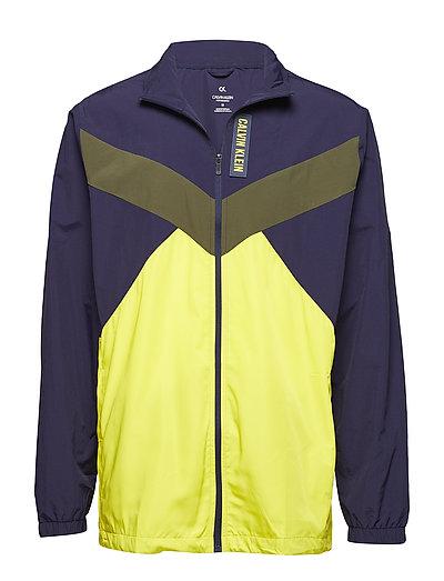 Woven Fz Jacket Cb Outerwear Sport Jackets Bunt/gemustert CALVIN KLEIN PERFORMANCE