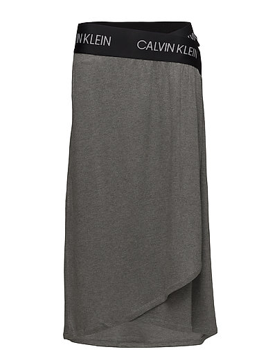 Midi Wrap Skirt Knielanges Kleid Grau CALVIN KLEIN PERFORMANCE