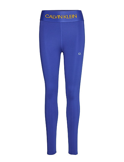 Full Length Tight Running/training Tights Blau CALVIN KLEIN PERFORMANCE