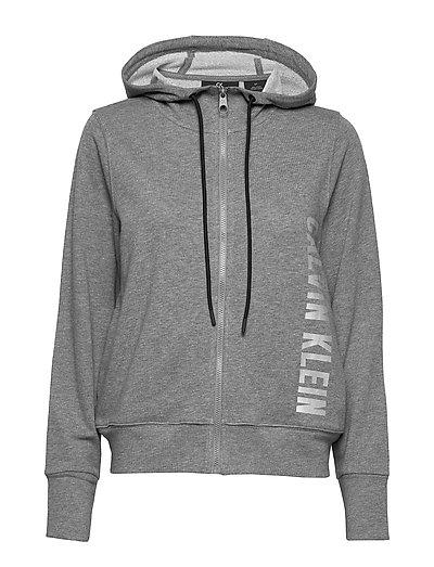 Full Zip Hooded Jacket Hoodie Pullover Grau CALVIN KLEIN PERFORMANCE