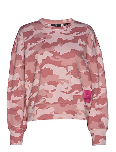 Cropped Pullover Sweat-shirt Pullover Pink CALVIN KLEIN PERFORMANCE