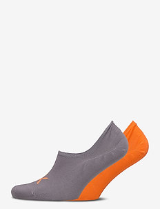 CK MEN LINER 2P LOGO FINLEY - ankelsokker - grey / orange