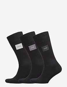 CK 3PK FORBES FLAT KNIT PATCH CREW 00 - BLACK
