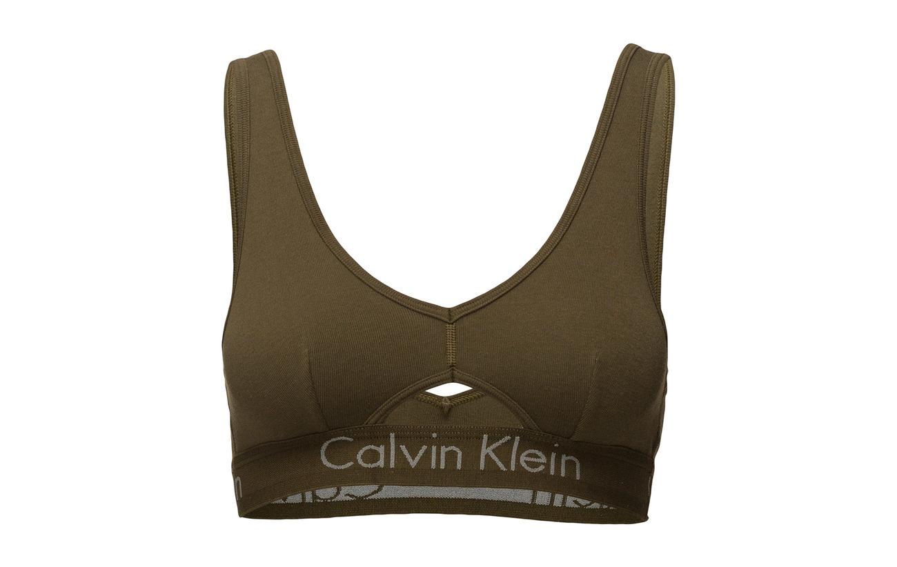 Grey Heather Coton Unlined 100 Bralette Klein Calvin BqnWITtzW