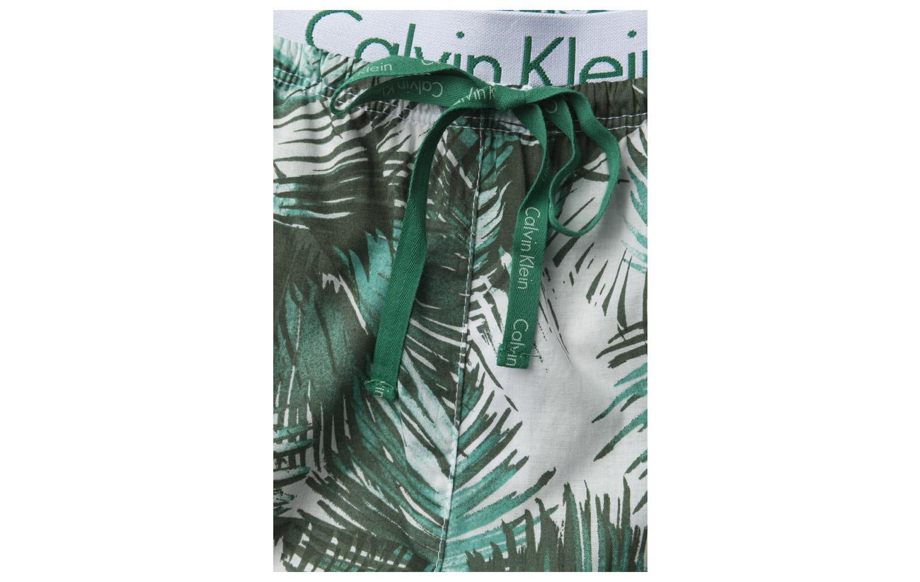 100 Calvin Palm Coton Classic Print Klein Bottom Pant 886qgRpw
