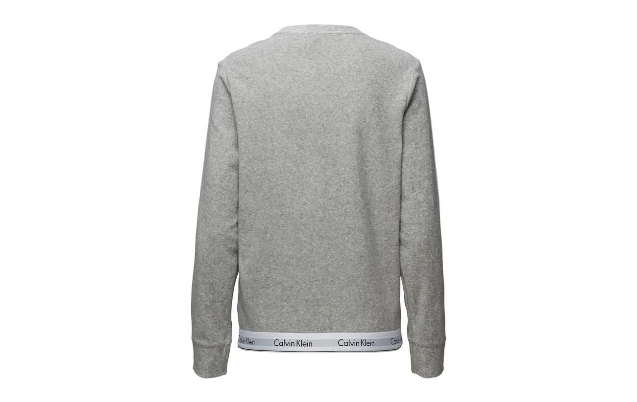 Polyesterpes L Grey s 20 Sweatshirt 80 Heather Coton Klein Calvin xH5nIwq4vn