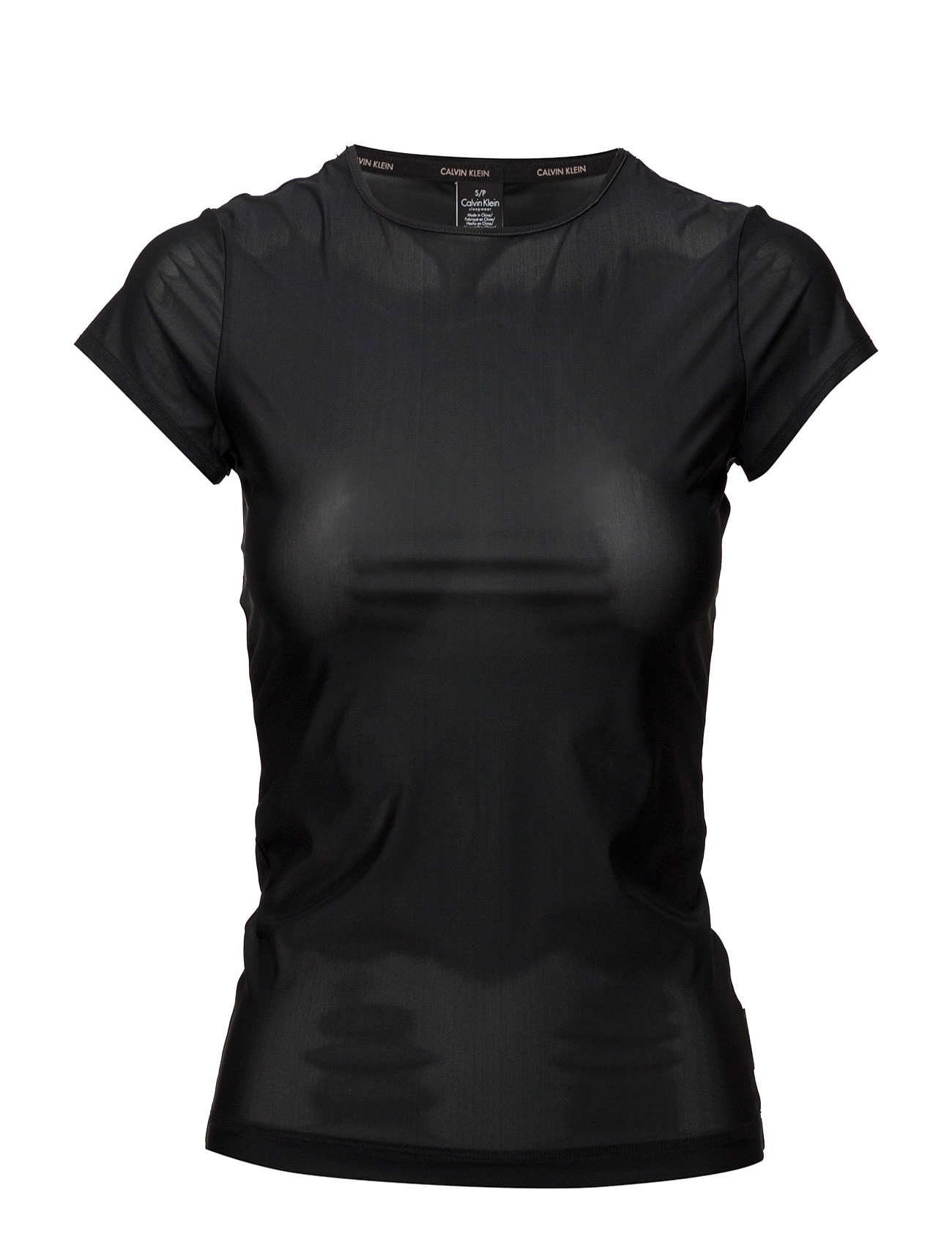 Calvin Klein TOP CREW NECK SHORT SLEEVE - BLACK