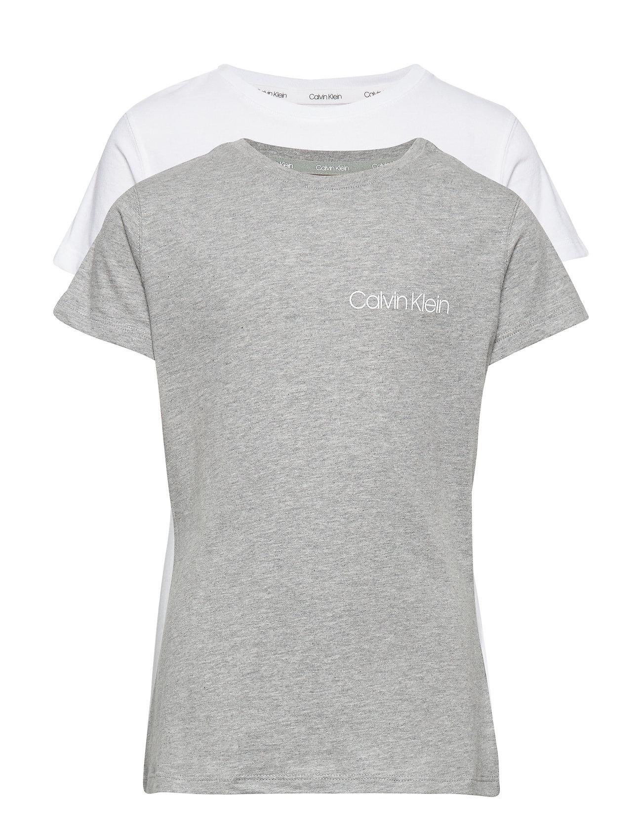 Calvin Klein 2PK TEES - 1WHITE/1GREYHEATHER1
