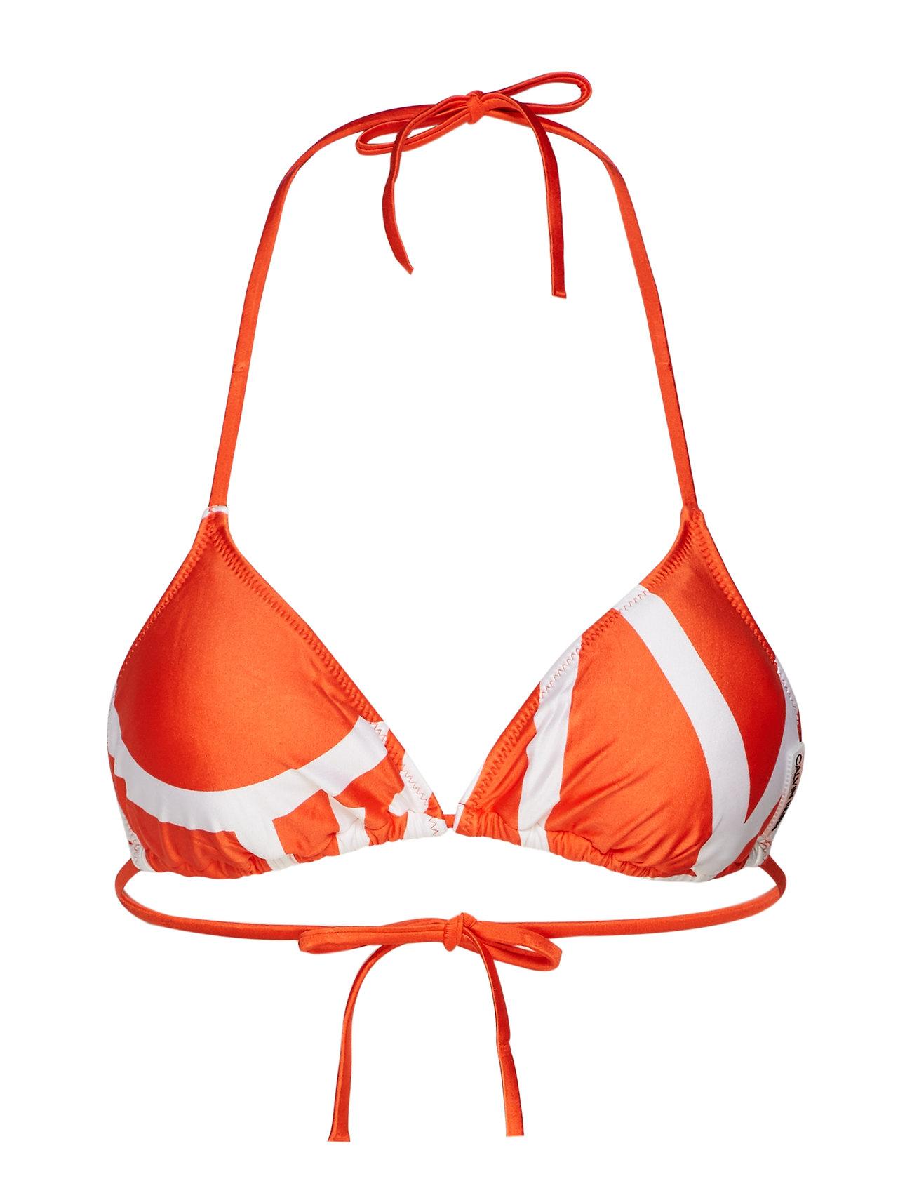 Calvin Klein TRIANGLE-RP - KLEIN ABSTRACT MANDARIN RED