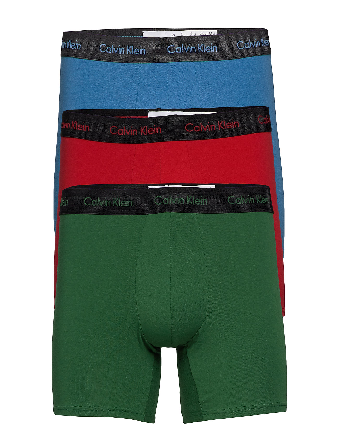 Calvin Klein BOXER BRIEF 3PK - EDEN/ VALLARTA BLUE/ TEMPER W/