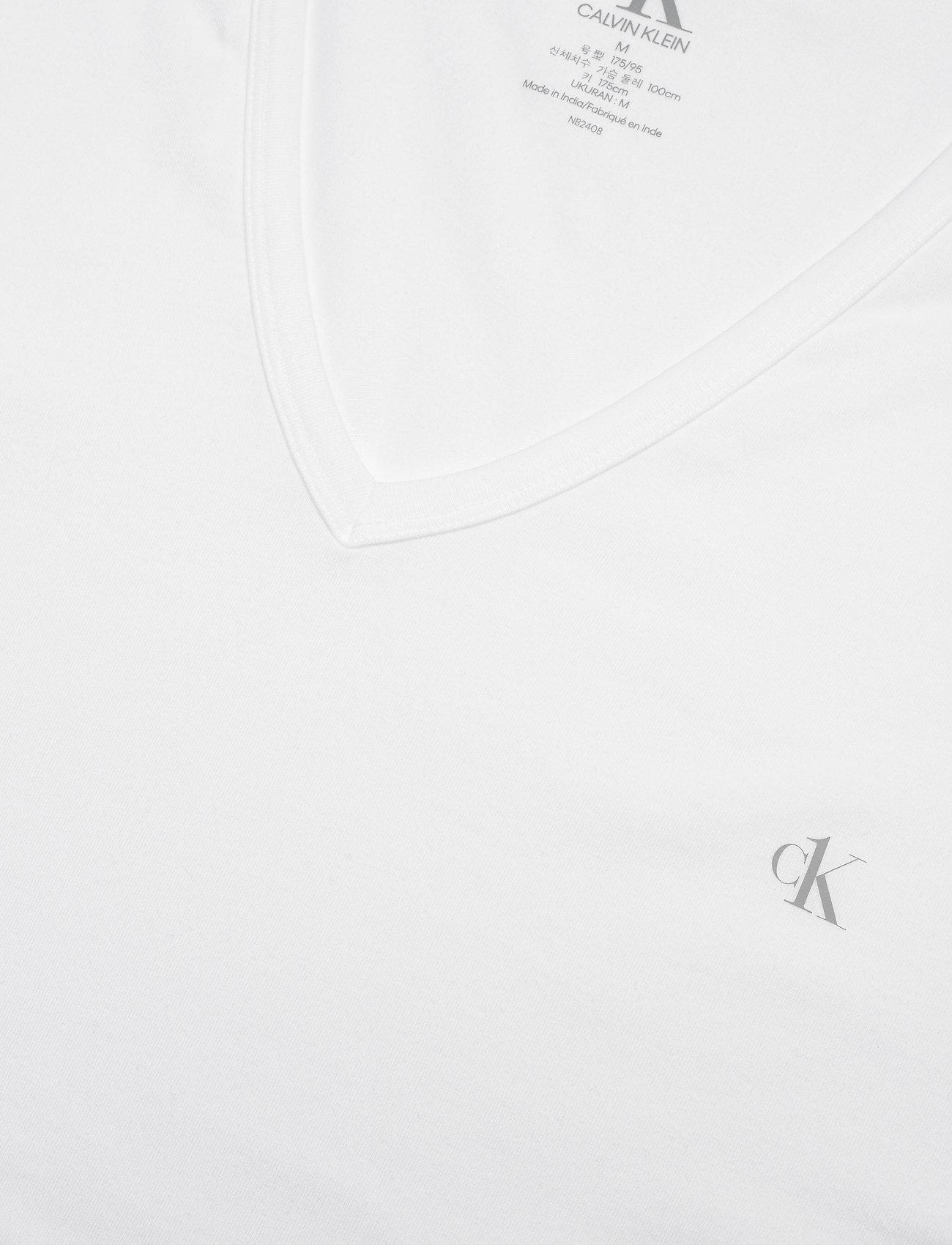 Calvin Klein - S/S V NECK 2PK - multipack - white - 1