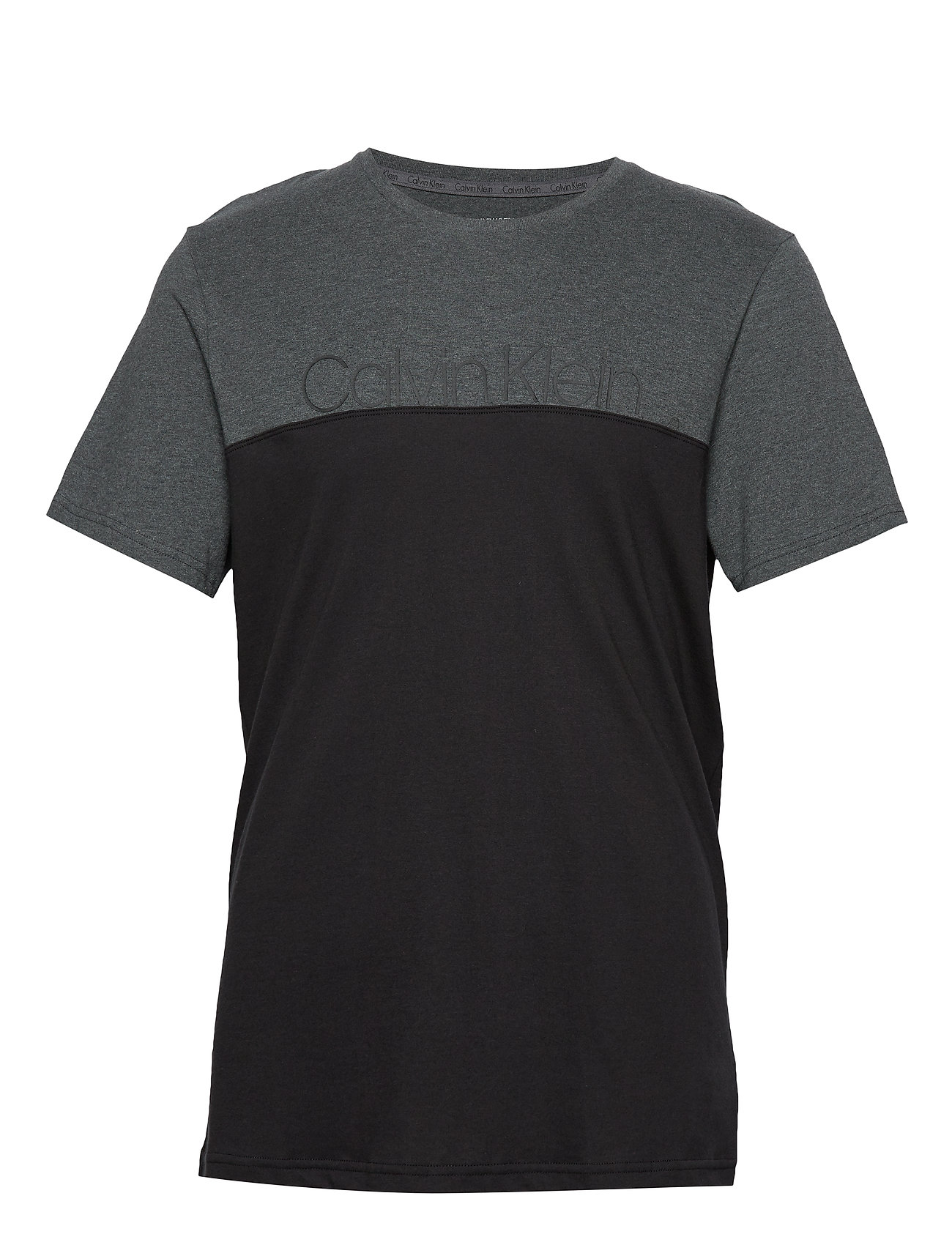 Calvin Klein S/S CREW NECK - CHARCOAL HEATHER