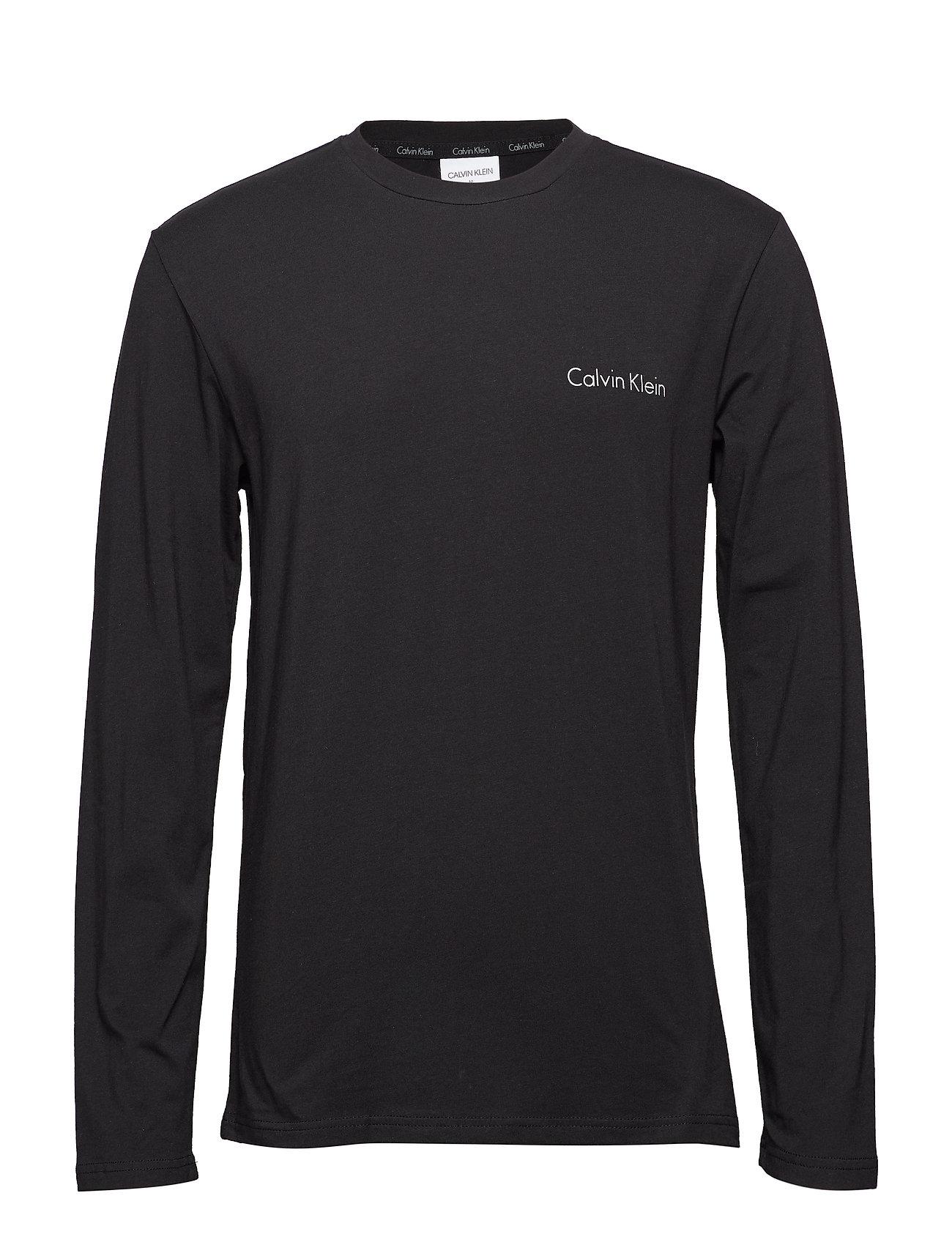 Calvin Klein L/S PANT SET - BLACK TOP/WAEVE GEO BLACK PANT