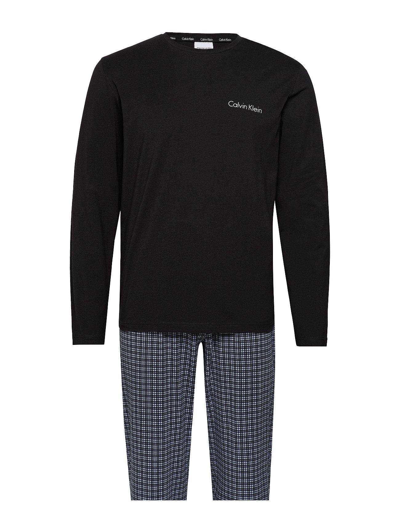 Calvin Klein L/S PANT SET - BLACK TOP /MILFORD PLAID PANT