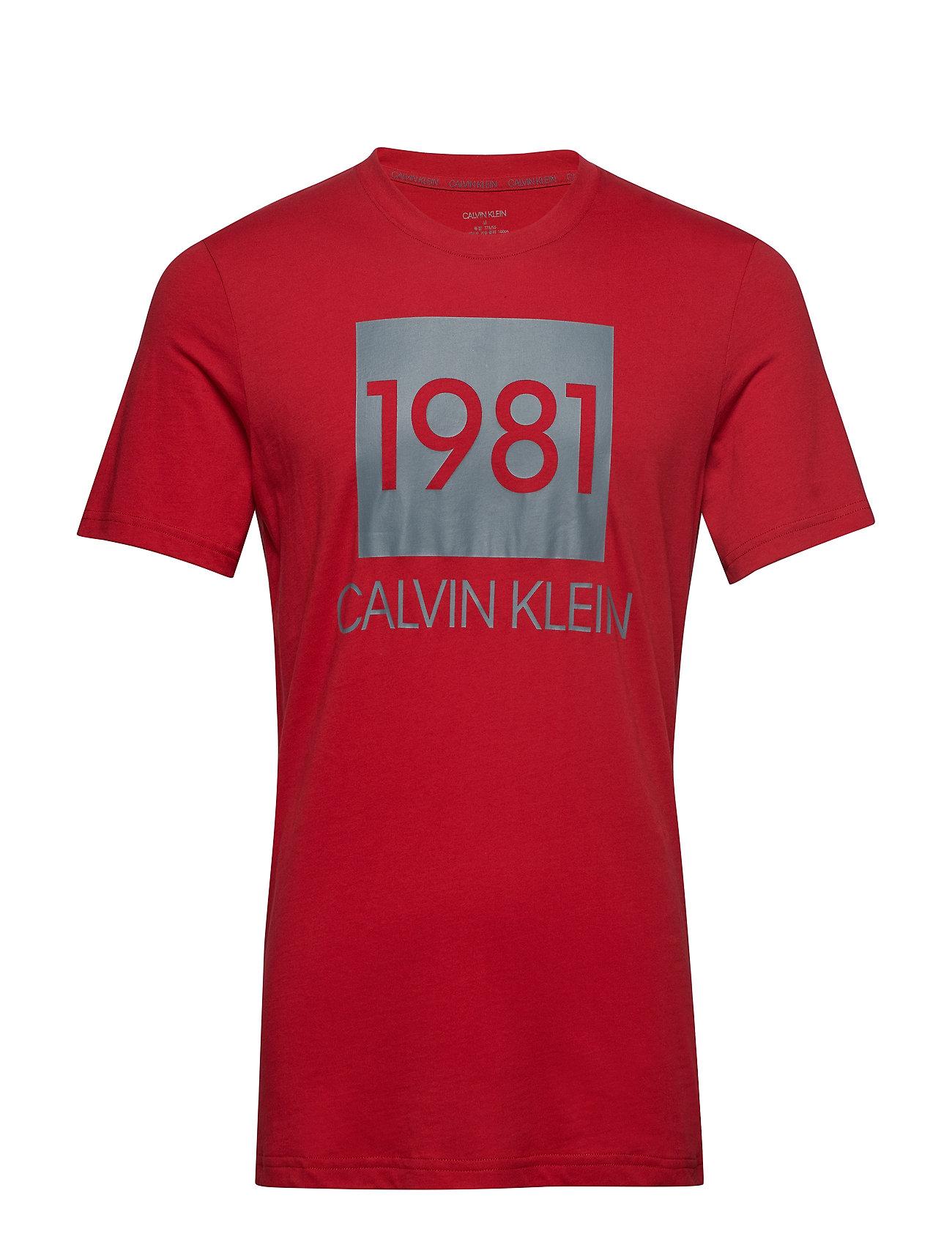 Calvin Klein S/S CREW NECK - CHILI PEPPER