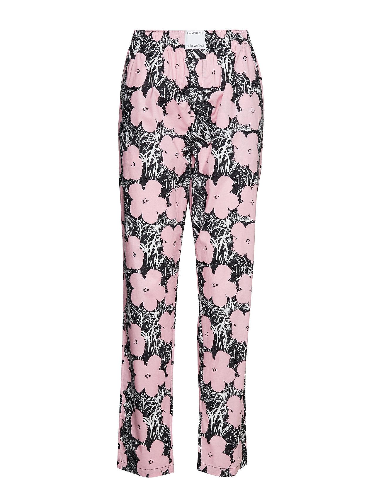 Calvin Klein SLEEP PANT (UNISEX) - AWH_FLOWERS LIGHT PINK