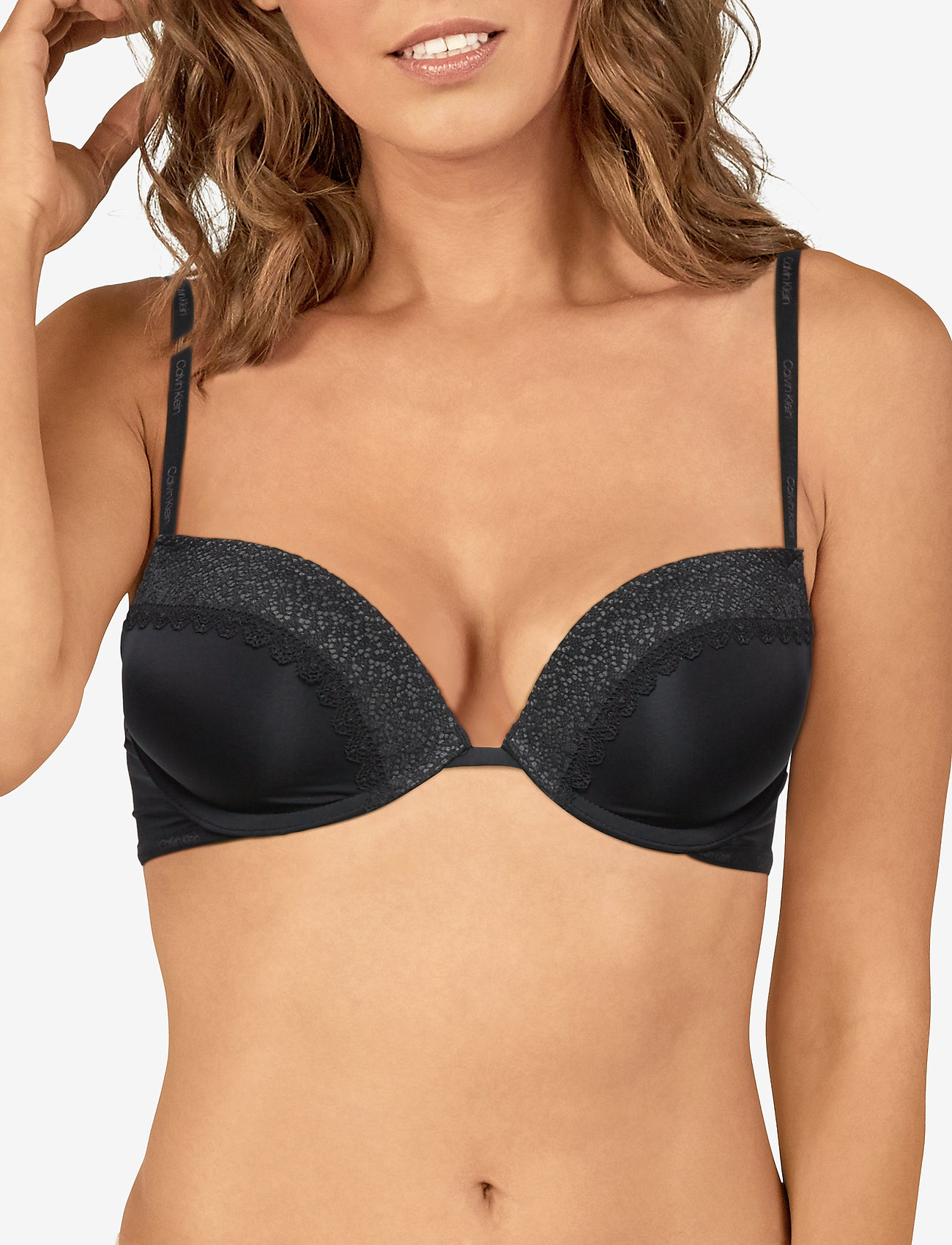 Calvin Klein PUSH UP PLUNGE - BLACK