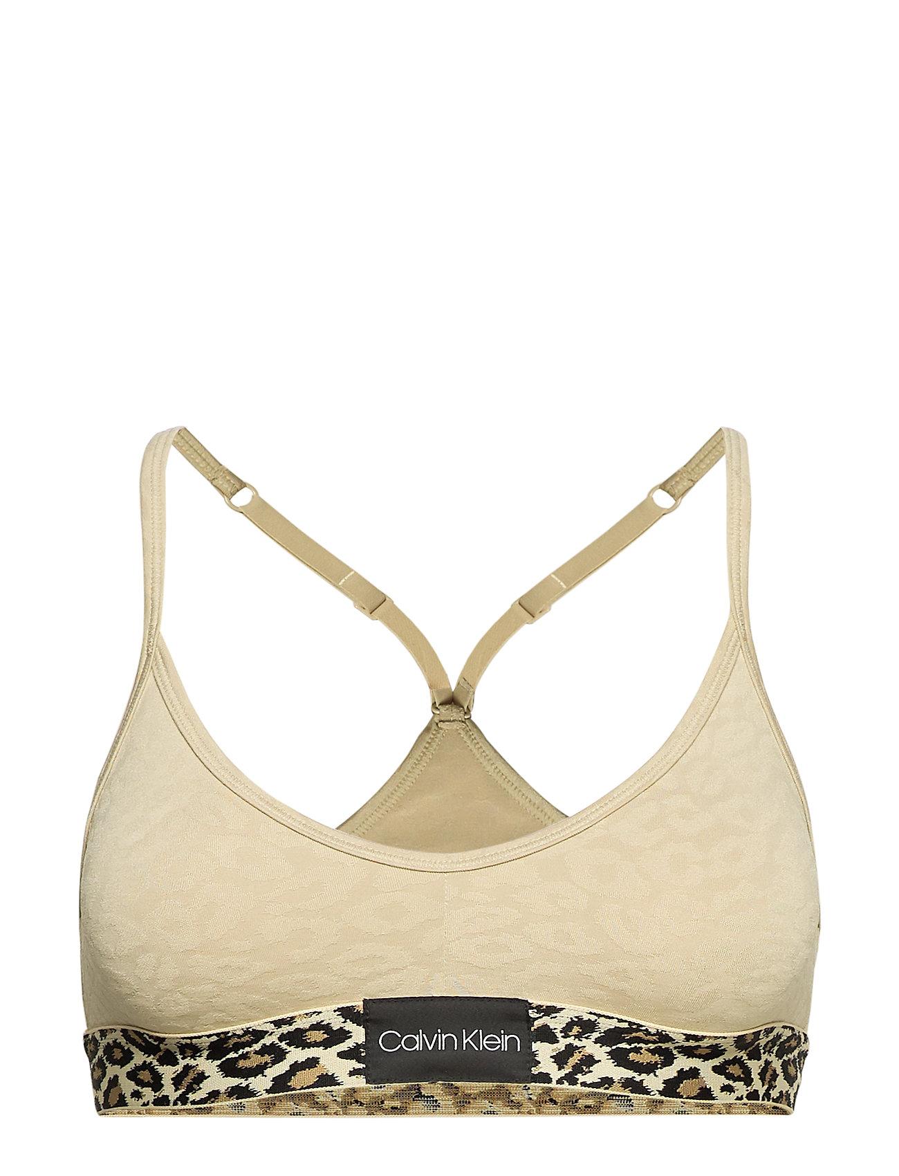 Calvin Klein UNLINED BRALETTE, 7V - OXFORD TAN