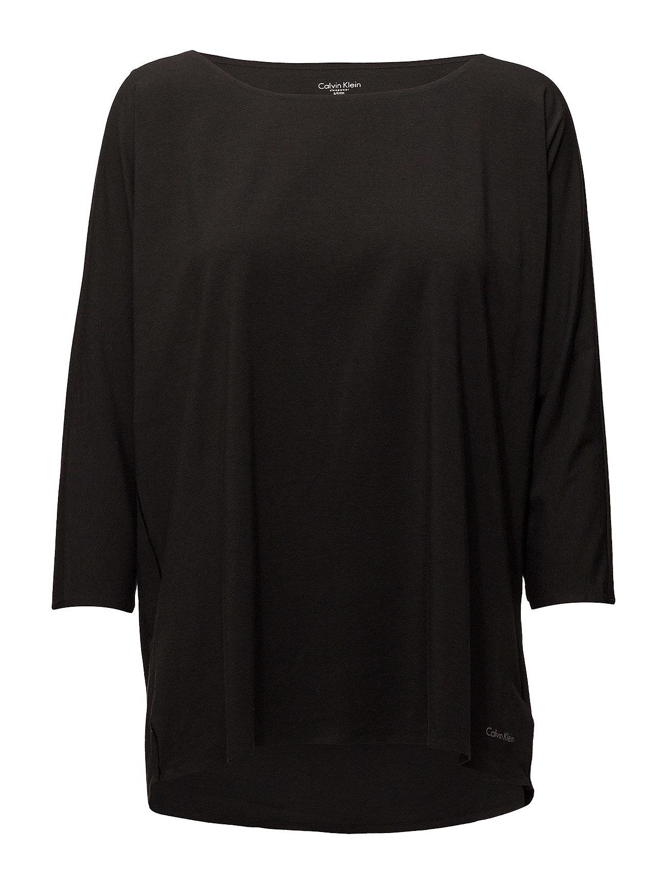 Calvin Klein 3/4 CURVE NECK - BLACK