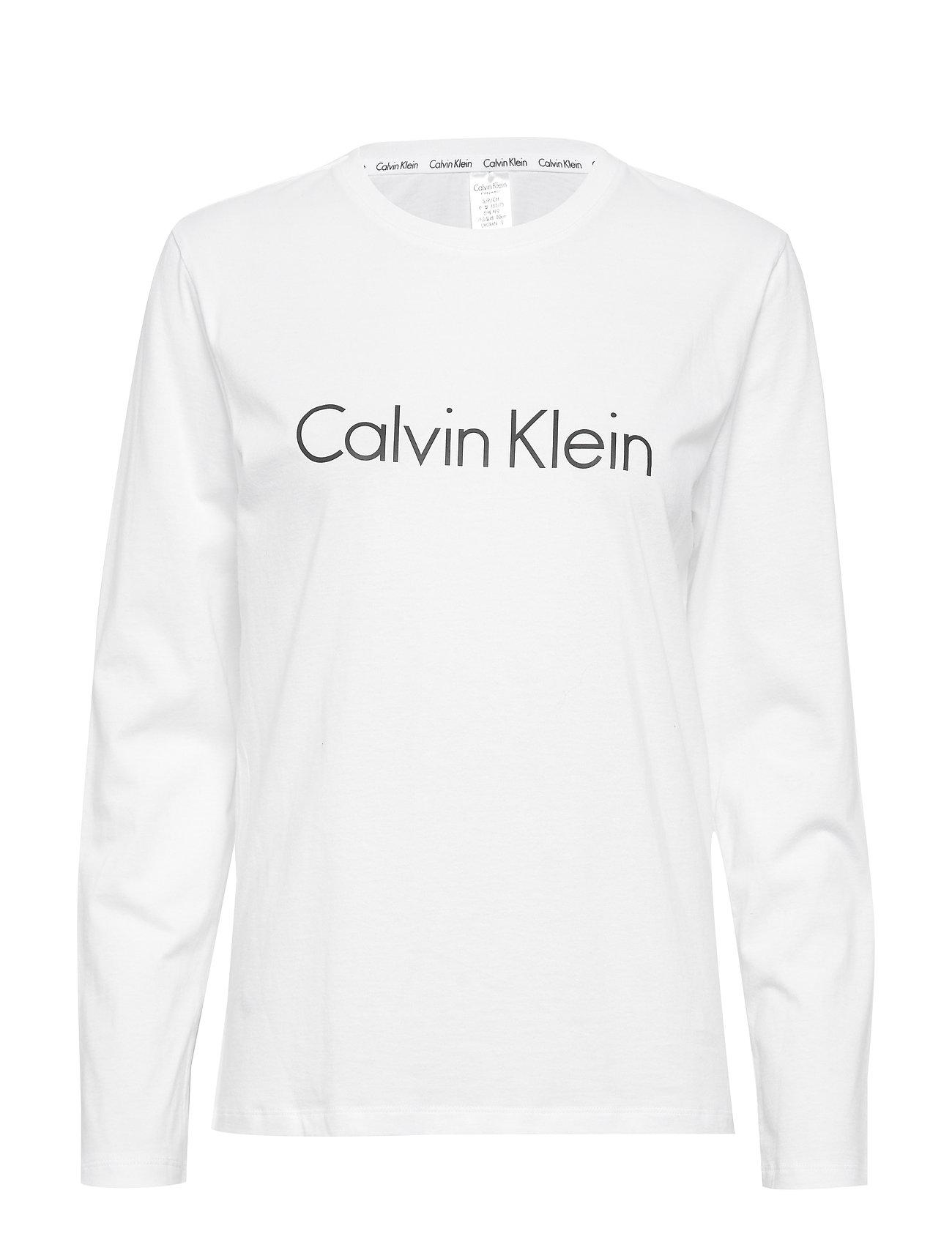 Calvin Klein L/S CREW NECK - WHITE