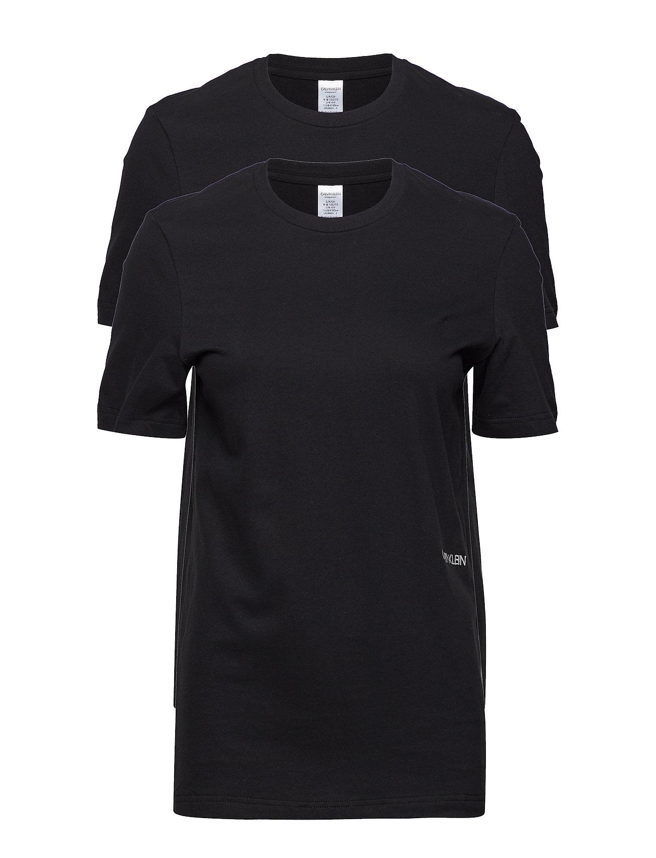 Calvin Klein S/S CREW NECK 2PK, 0 - BLACK