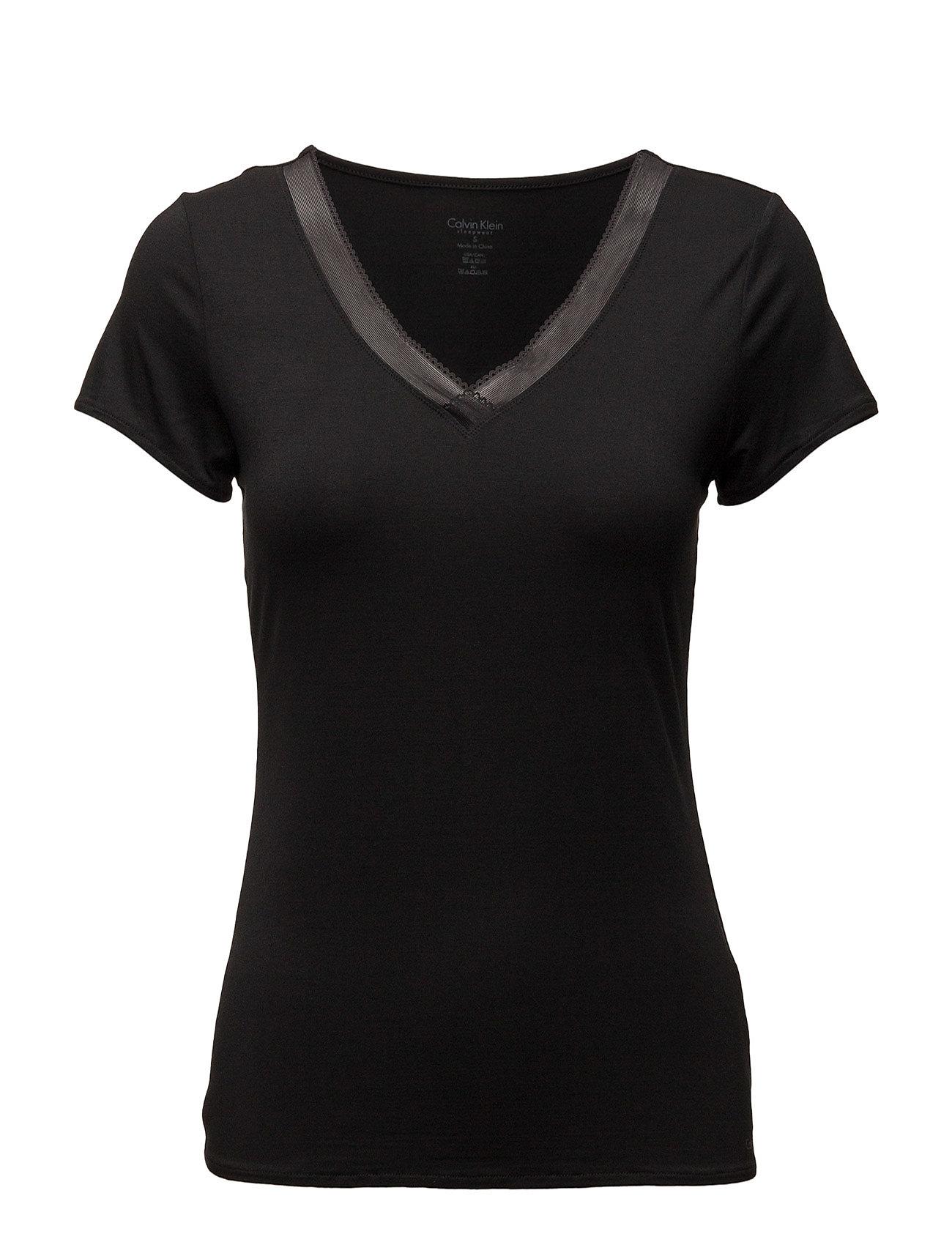 Calvin Klein S/S V NECK - BLACK