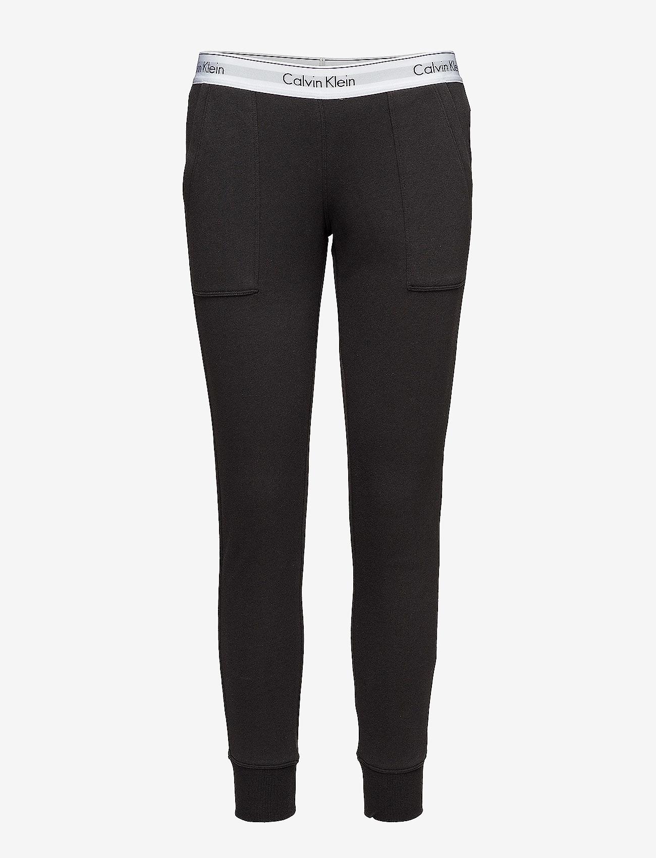Calvin Klein - BOTTOM PANT JOGGER - doły - black - 0