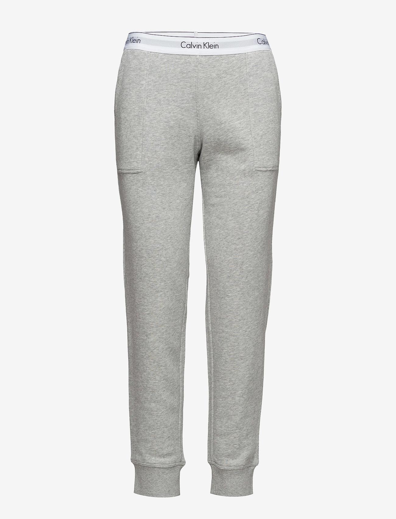 Calvin Klein - BOTTOM PANT JOGGER - doły - grey heather - 0