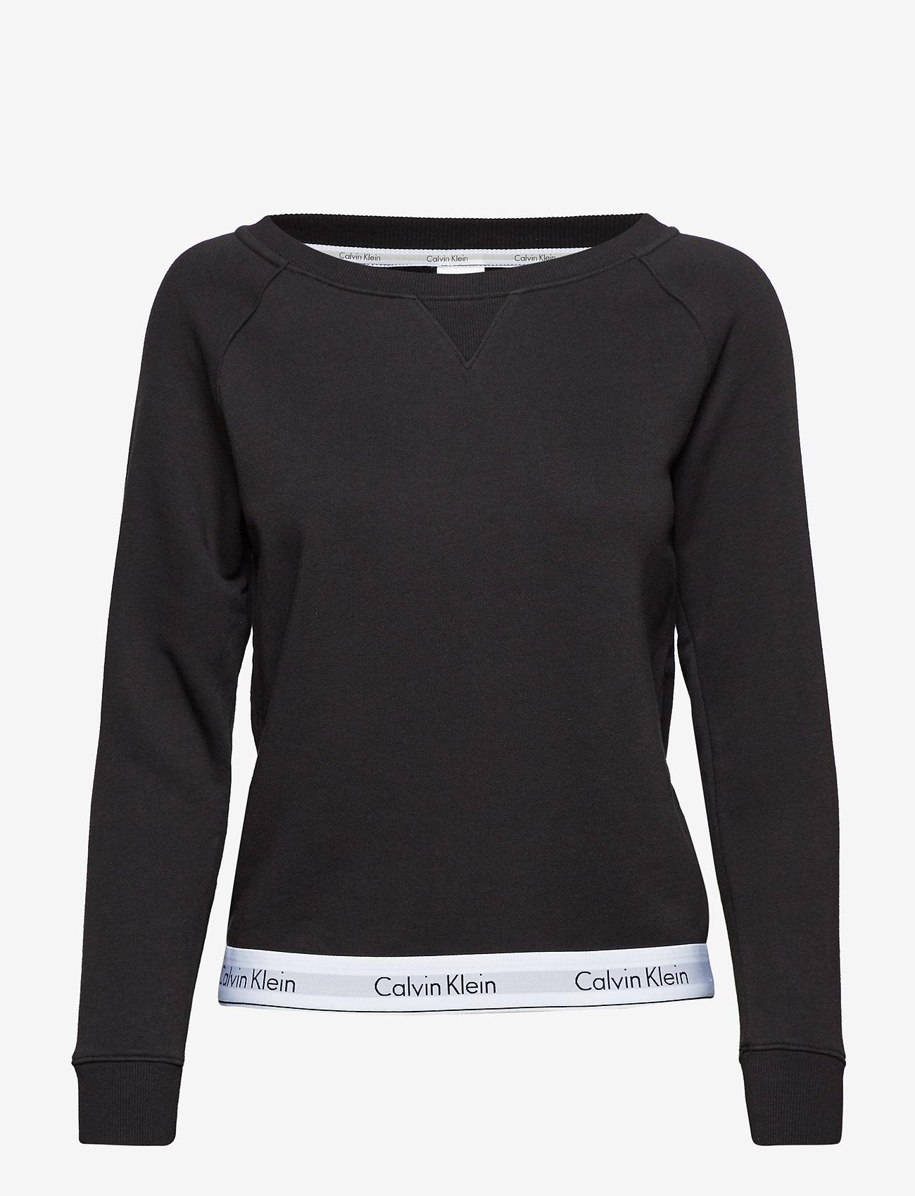 Calvin Klein - TOP SWEATSHIRT LONG SLEEVE - overdeler - black - 0