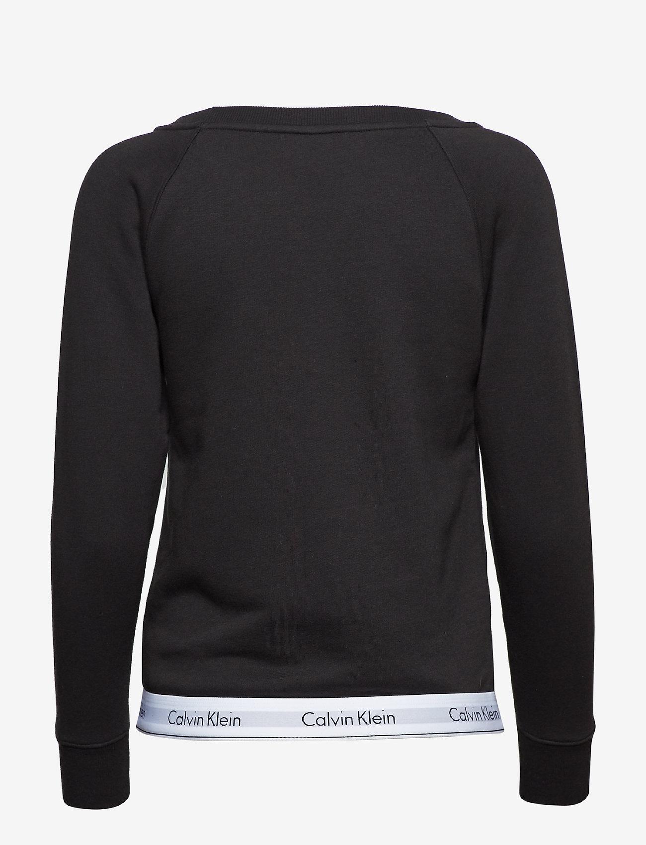Calvin Klein - TOP SWEATSHIRT LONG SLEEVE - overdeler - black - 1