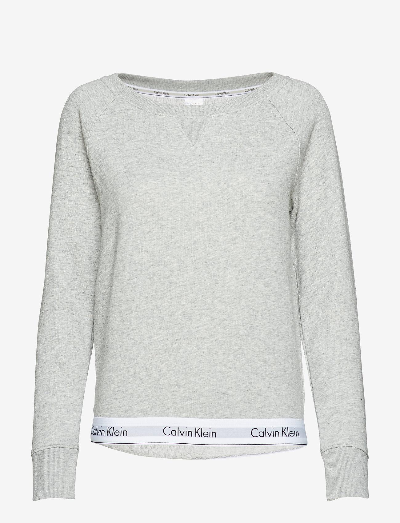 Calvin Klein - TOP SWEATSHIRT LONG SLEEVE - overdeler - grey heather - 0