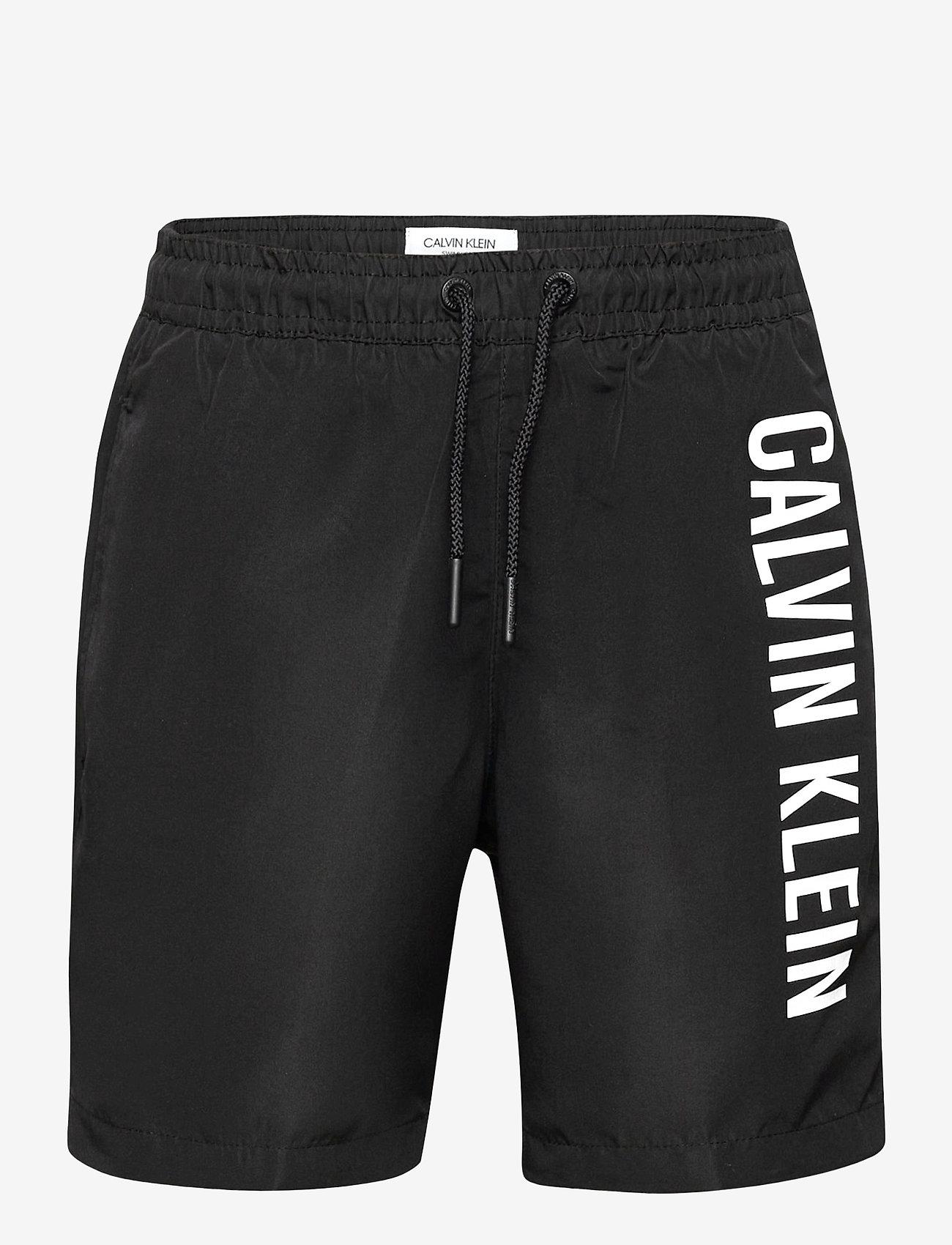Calvin Klein - MEDIUM DRAWSTRING - badehosen - pvh black - 0