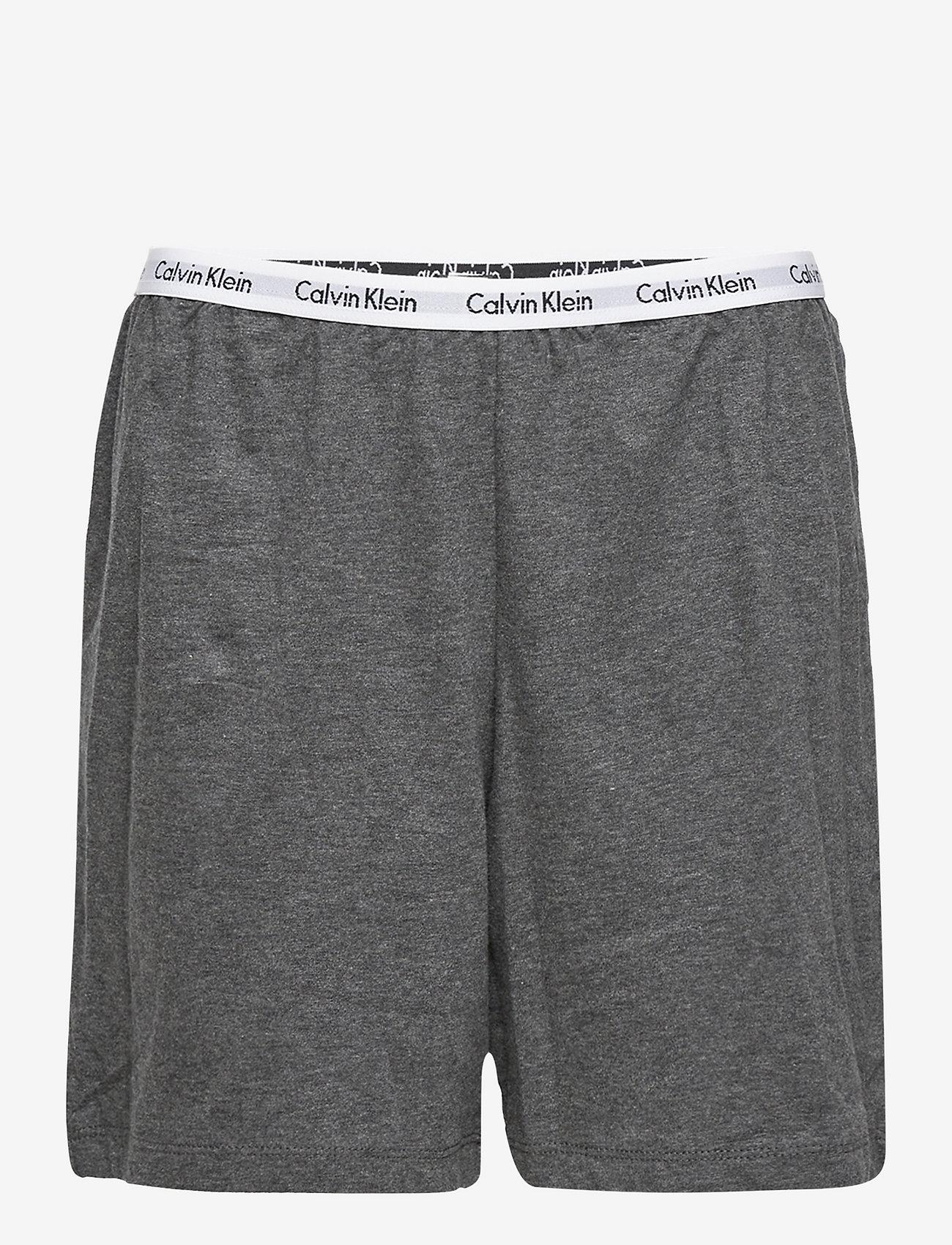 Calvin Klein - KNIT PJ SET (SS+SHORT) - pyjamas - grey heather - 2