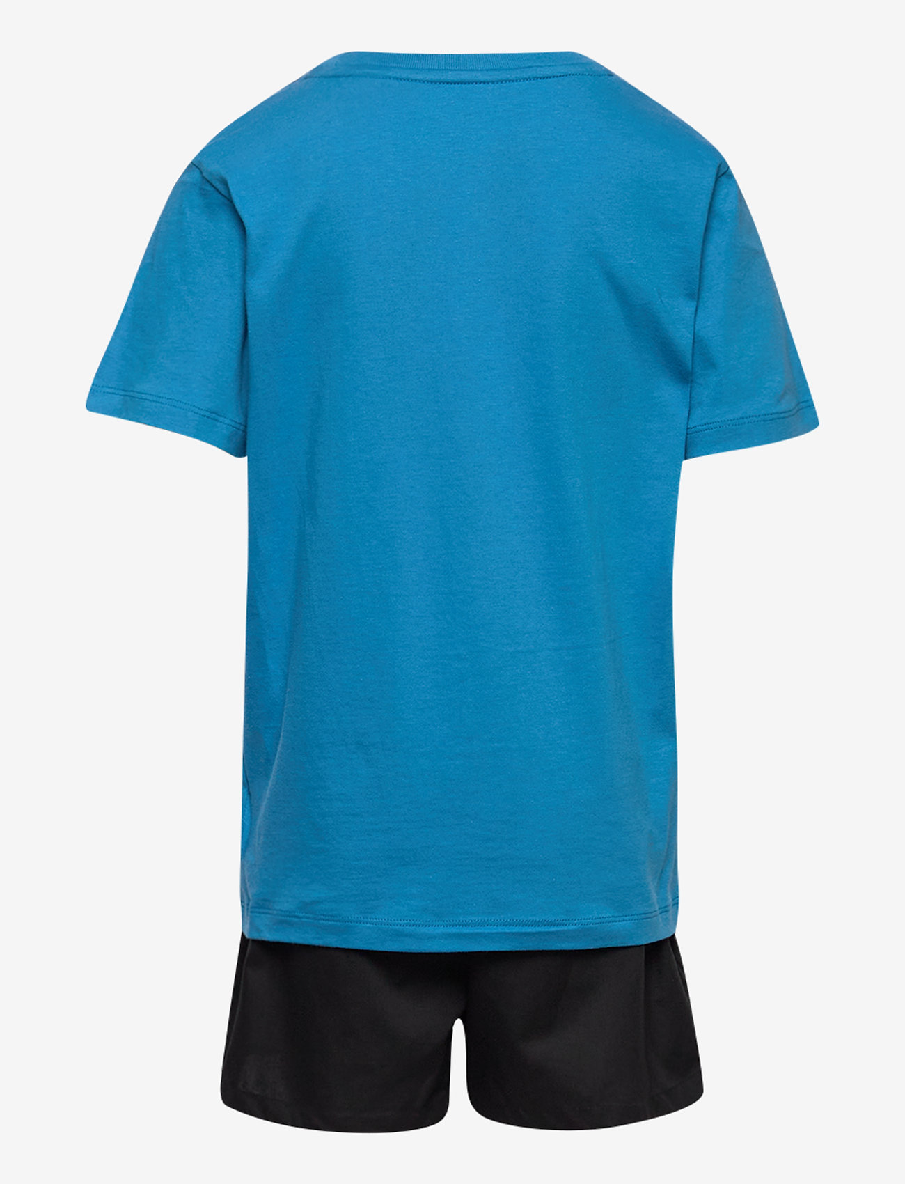Calvin Klein - WOVEN PJ SET (SS+SHORT) - 2-delte sæt - bluepetal/w/pvhblack - 1