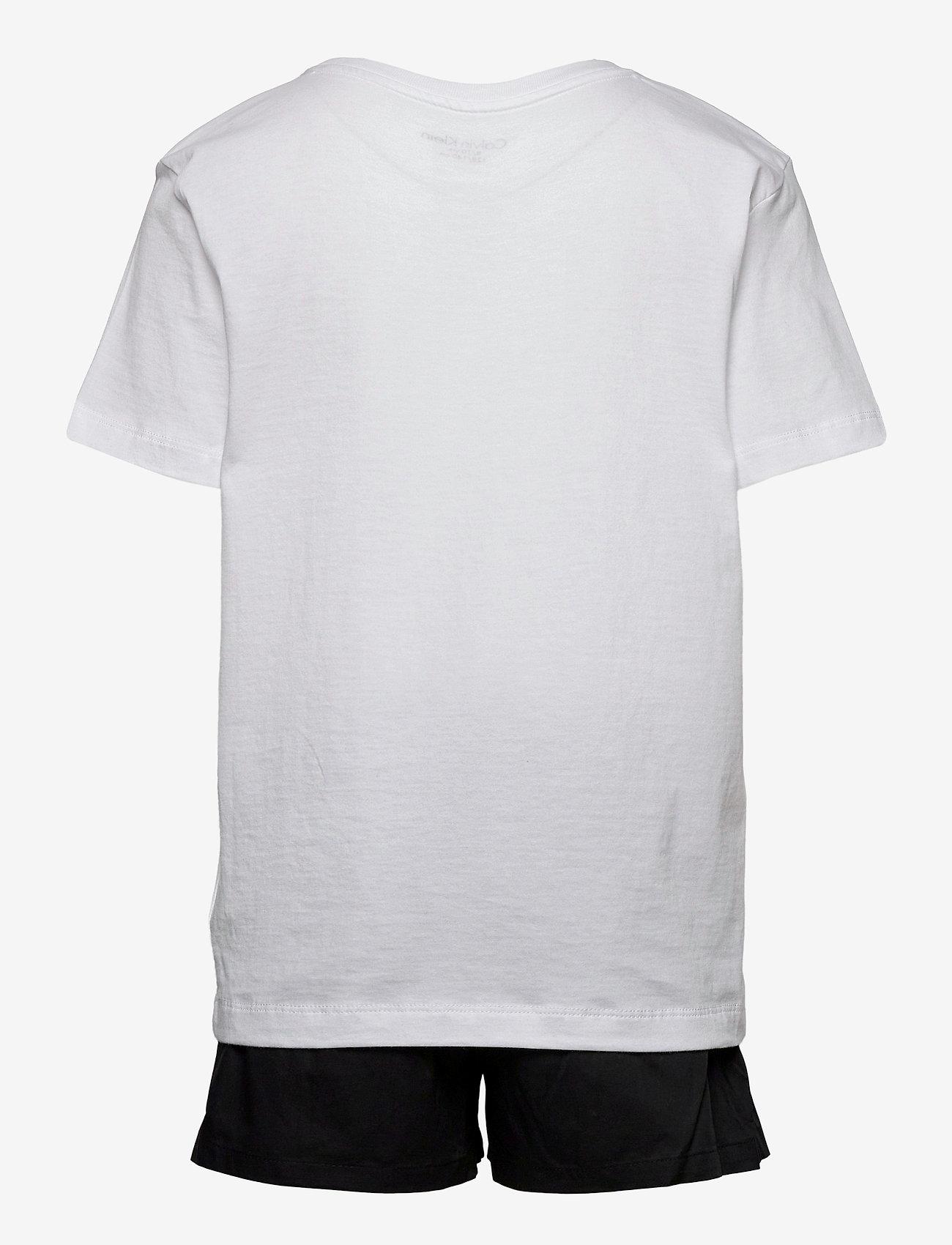 Calvin Klein - WOVEN PJ SET (SS+SHORT) - 2-delte sæt - pvhwhite/w/pvhblack - 1