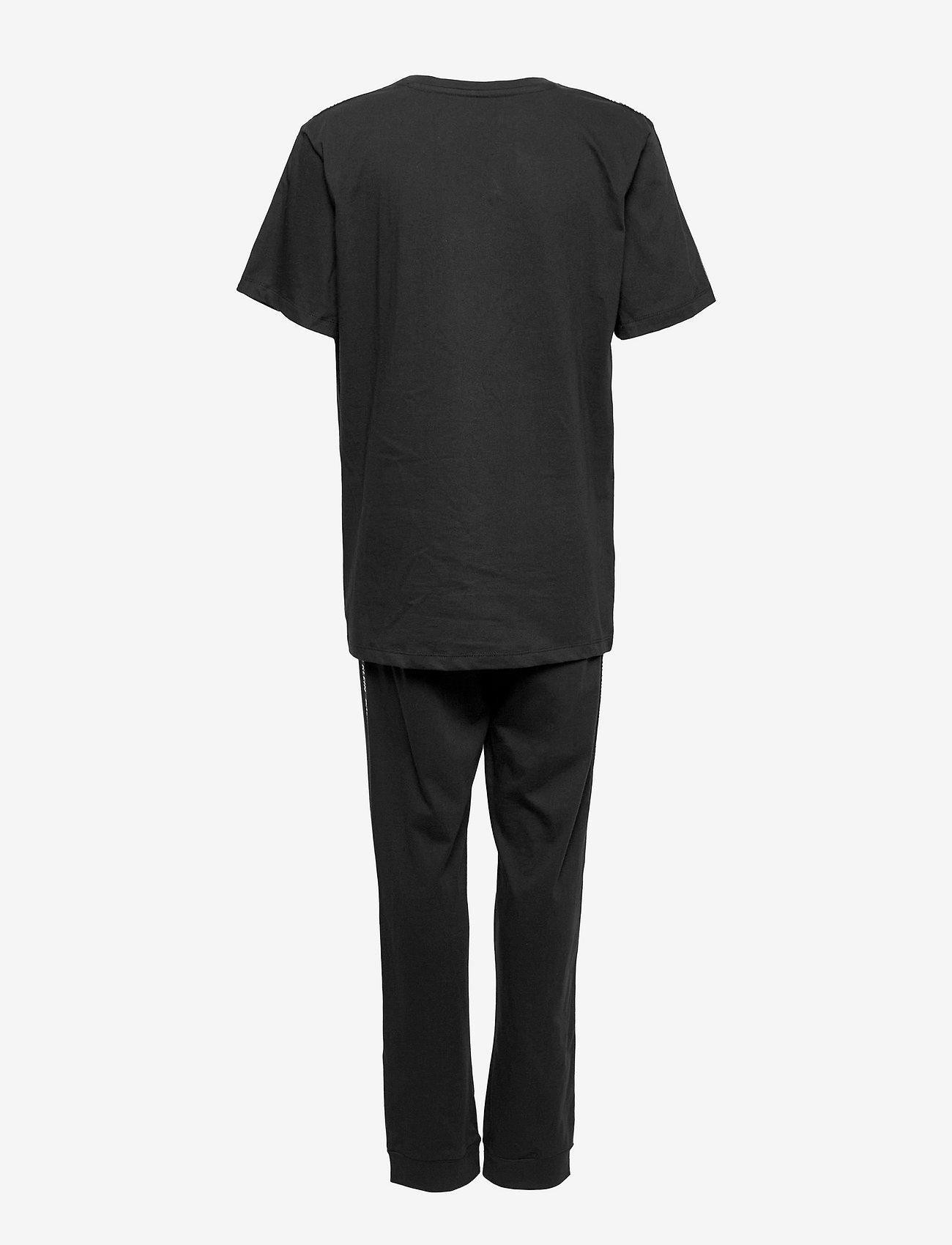 Calvin Klein - KNIT PJ SET (SS+CUFFED PANT) - sæt - pvh black - 1