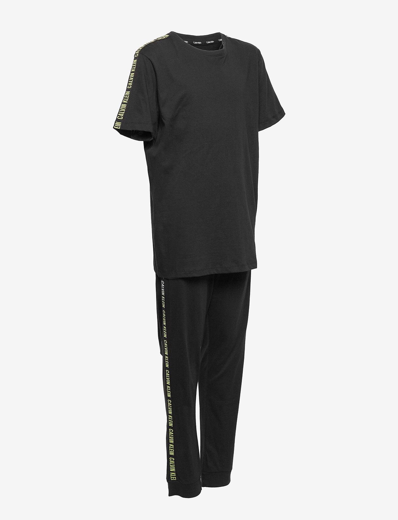 Calvin Klein - KNIT PJ SET (SS+CUFFED PANT) - sæt - pvh black - 2