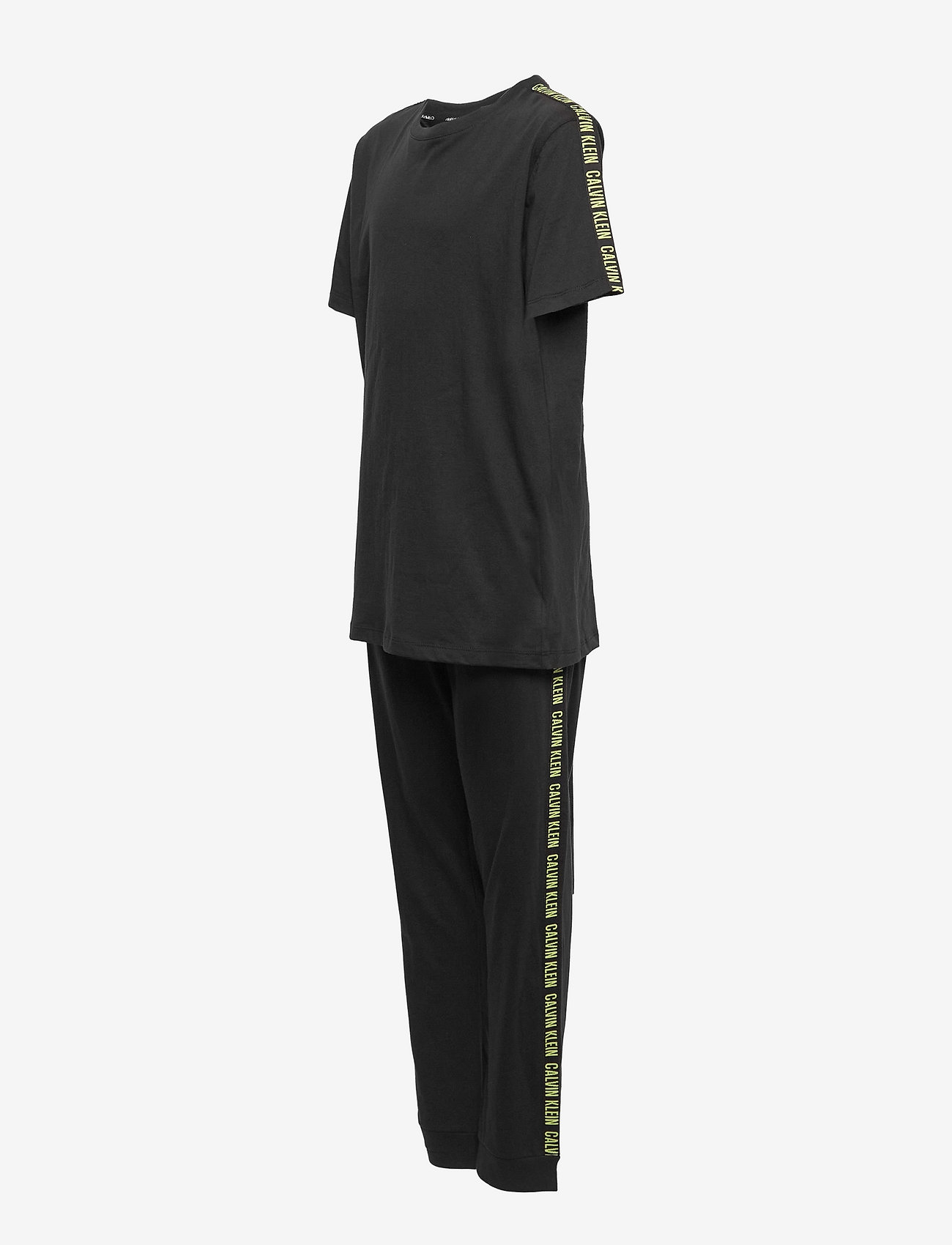 Calvin Klein - KNIT PJ SET (SS+CUFFED PANT) - sæt - pvh black - 3