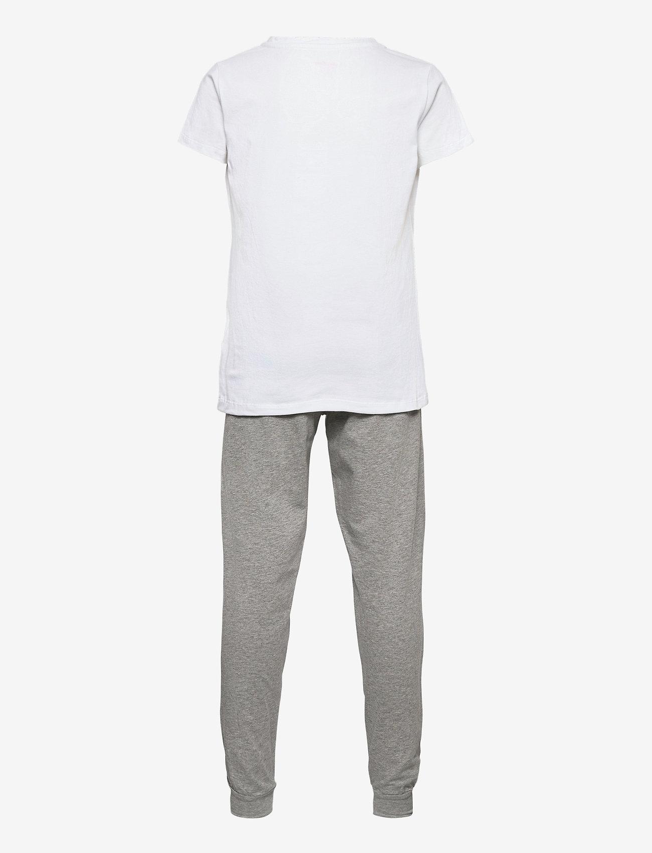Calvin Klein - SS KNIT PJ SET - ondergoedsets - white/grey htr - 1