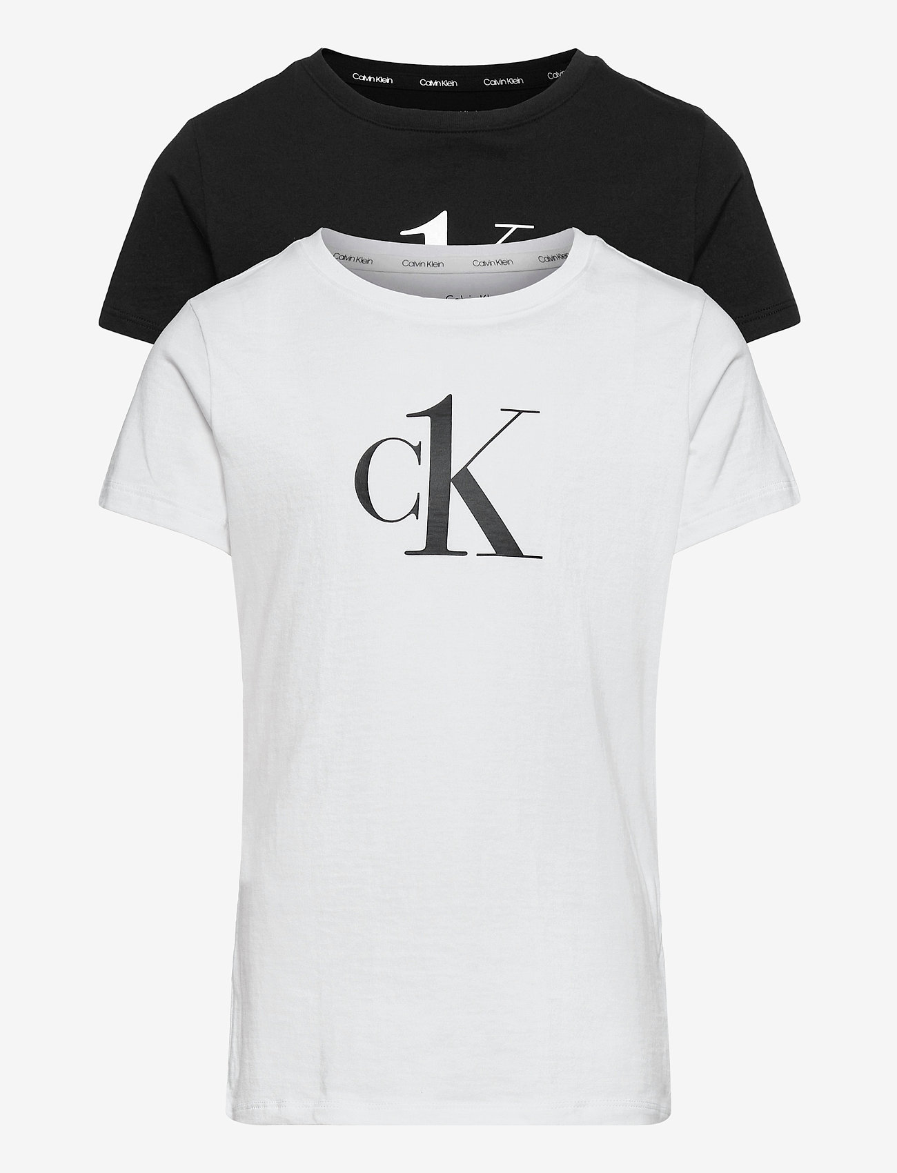 Calvin Klein - 2PK TEES - t-shirts - pvhwhite/pvhblack - 0