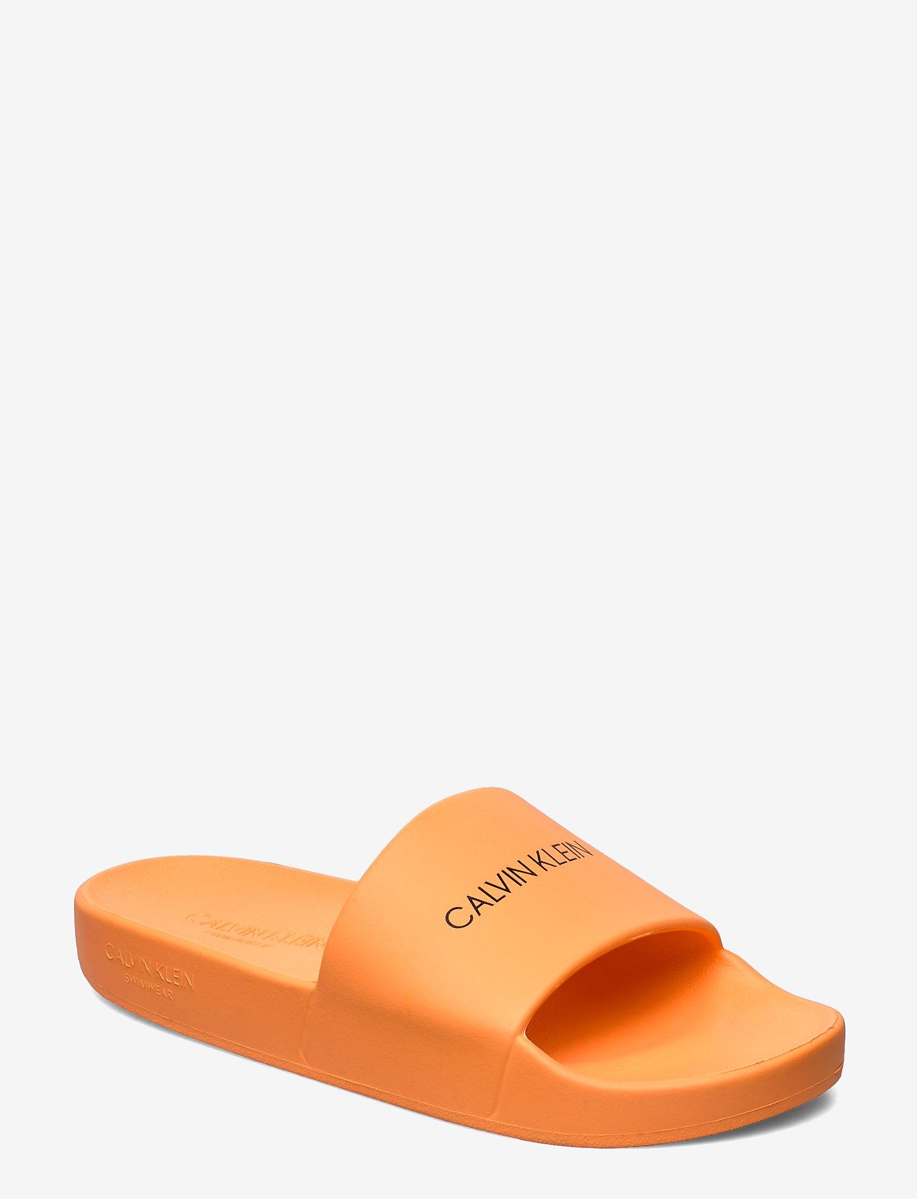 Calvin Klein - SLIDES - pool sliders - orange pop - 0