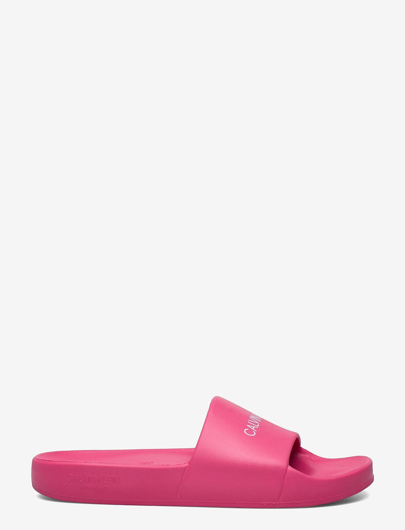Calvin Klein - ONE MOLD SLIDE - pool sliders - pink heart - 1